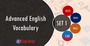Advanced English Vocabulary for IELTS,TOFEL,CSS SET 1 FLASHCARD PDF PRINTABLE . English Words for language exams in hindi and Urdu translation for daily use