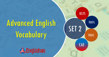 Advanced Vocabulary for Printable Flashcards Set 2 PDF  IELTS,TOEFL, TOEIC , GRE ,CSS, UPSC and other language exam.