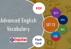 Advanced Vocabulary for Printable Flashcards Set 13 PDF IELTS,TOEFL, TOEIC , GRE ,CSS, UPSC and other language exam.