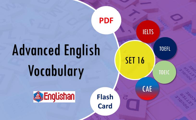 English Advanced Words List for PPSC Exam SET 16