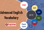 Advanced Vocabulary for Printable Flashcards Set 21 PDF IELTS,TOEFL, TOEIC , GRE ,CSS, UPSC and other language exam.