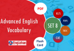 Advanced Vocabulary for Printable Flashcards Set 8 PDF IELTS,TOEFL, TOEIC , GRE ,CSS, UPSC and other language exam.