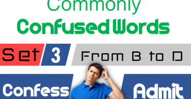 Commonly confused Words in English with Sentences - SET 3