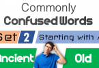 Confusing Words with Meanings and Explanation - SET 2