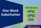 Most important one Word substitution for Exams with PDF. 300 One word Substitute list for SSC CGL UPSC, CSS, Class 1, Class 3, Class 7, Class 8, Class 5th, Class 6 with Examples.  This set help you in preparing most important topics in English Comprehension and all Competitive exams.