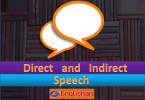 Direct Speech is the exact words spoken by someone. It is enclosed within quotation marks .Indirect Speech is when we report what someone else has said.