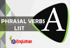 Phrasal Verb with act