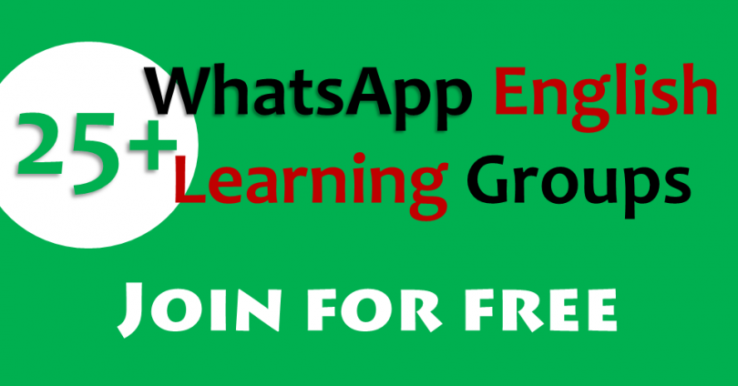 WhatsApp English Learning Groups Links