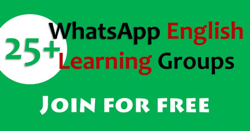 WhatsApp English Learning Groups Links