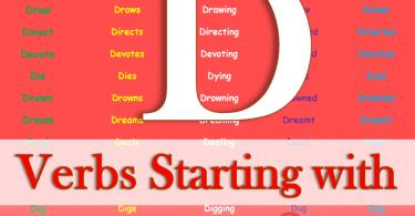 Verbs Starting with D | Regular & Irregular Verbs | Download PDF