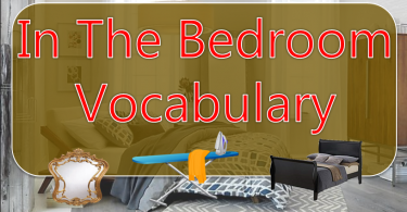 In The Bedroom Vocabulary Featured image