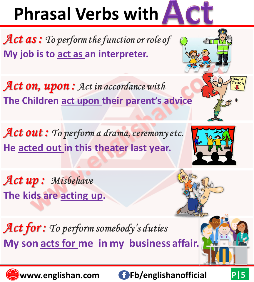 Phrasal Verb List A with Meaning and Sentences | Englishan