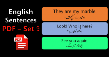 English Sentences of Daily Use with Urdu with PDF - SET 9