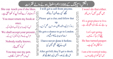 English Sentences of Daily Use with Urdu