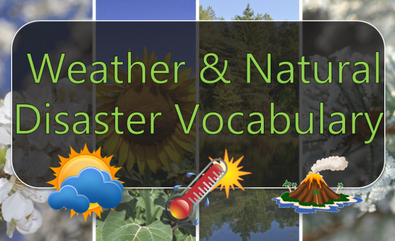 Weather & Natural Disaster Vocabulary Features