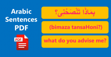 Arabic Sentences with English meanings Free PDF Lesson. Learn Basic English to Arabic translation for everyday use. Easy English Sentences with Arabic.
