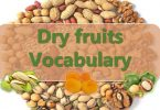 Dry Fruits Vocabulary with images and Flashcards
