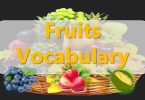 Fruits Vocabulary with images and Flashcards
