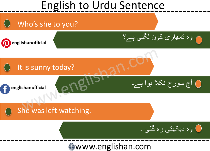 100 English to Urdu sentences Used in Daily Life with PDF