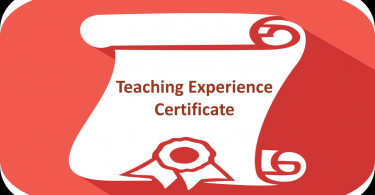 Teaching Experience Certificate