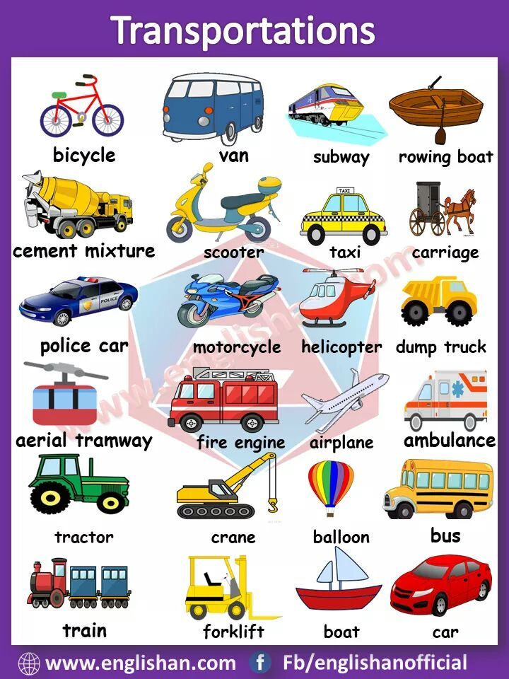 Picture Vocabulary Transport