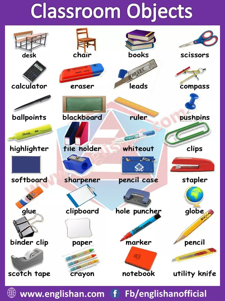 Picture Vocabulary Classroom vocabulary with pictures