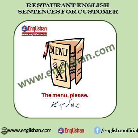 , Restaurant Vocabulary Pdf