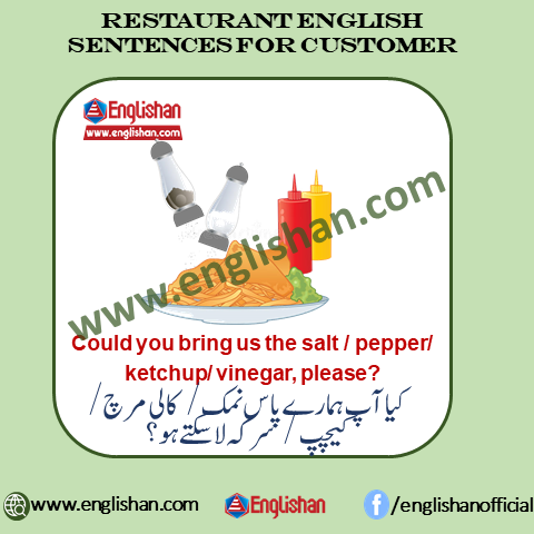 Restaurant Idioms in Urdu Meaning