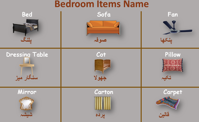 In The Bedroom Name In Urdu To English Pdf Englishan