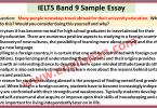 IELTS Band 9 Sample Essay