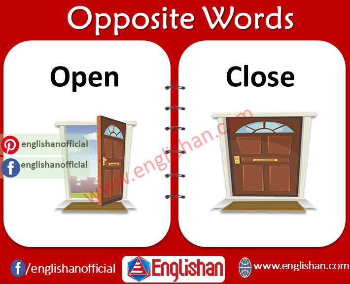 List of Opposite Words with Pictures