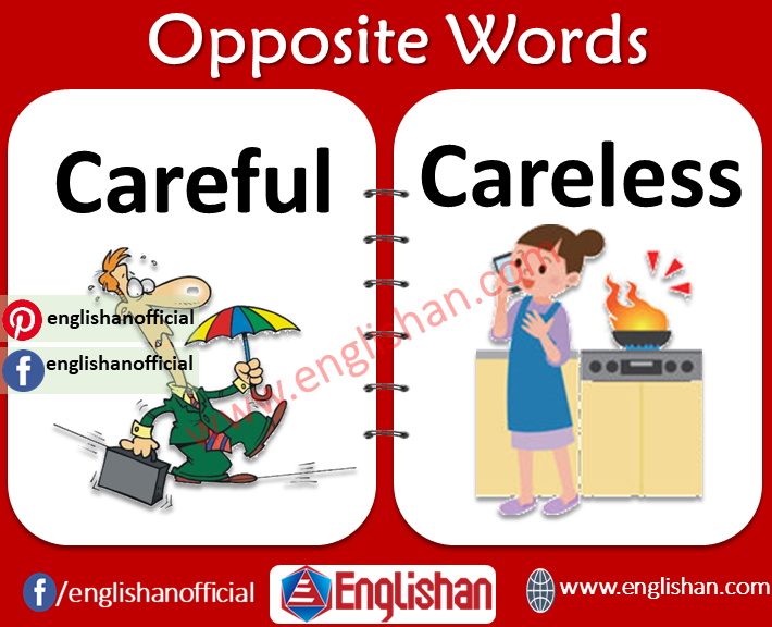 Opposite Words List for Kids in English