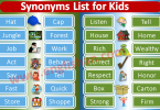 Synonyms List for Kids PDF
