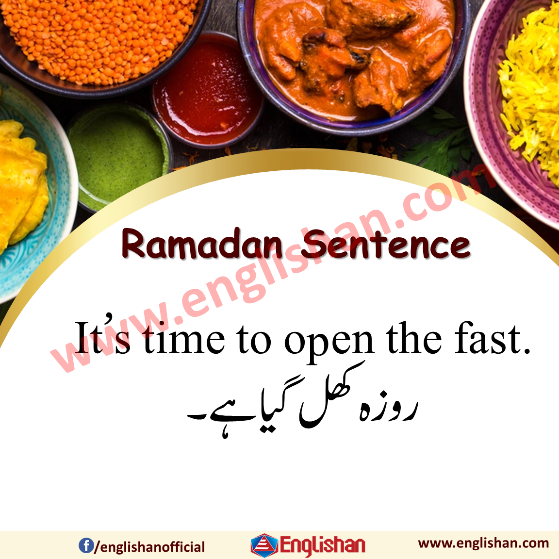 Ramadan Vocabulary with Sentences in English to Urdu
