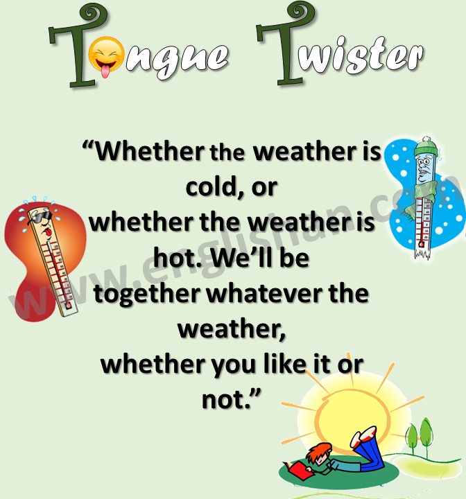 Funny Tongue Twisters In English