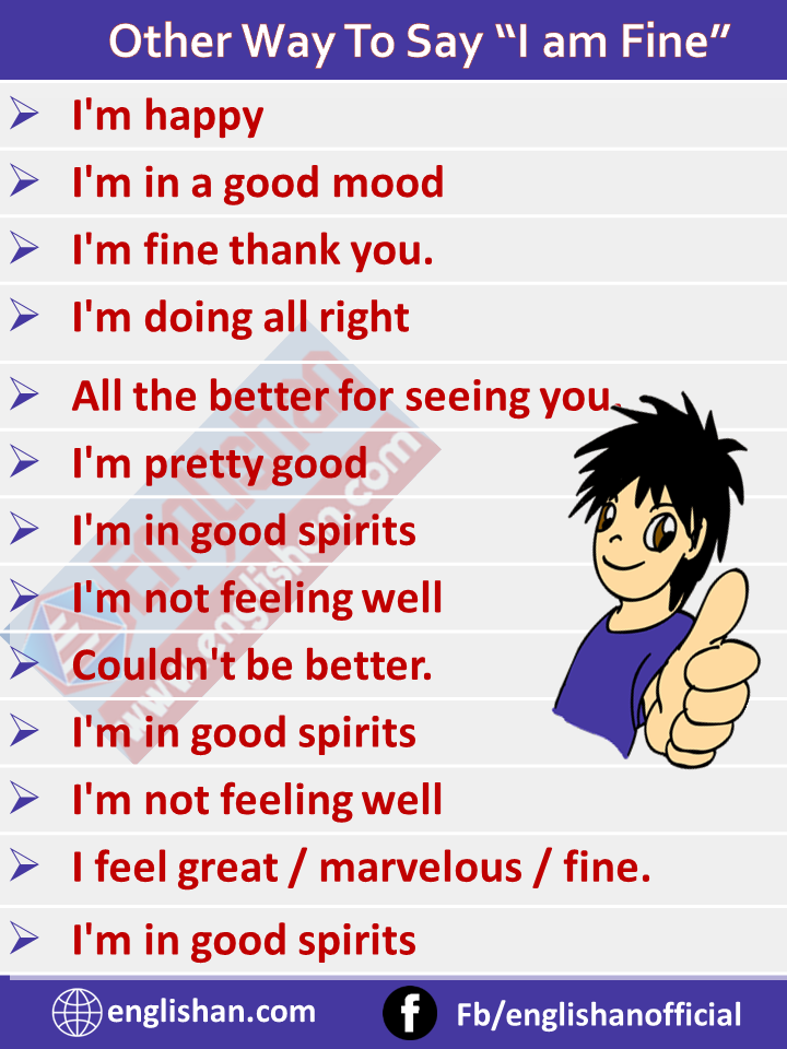 50 + Other Way To Say I am Fine