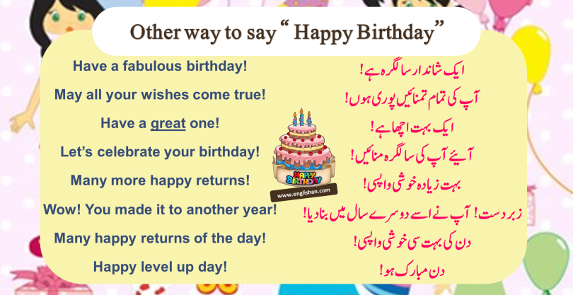 """50 Other way to say """" Happy Birthday''"""