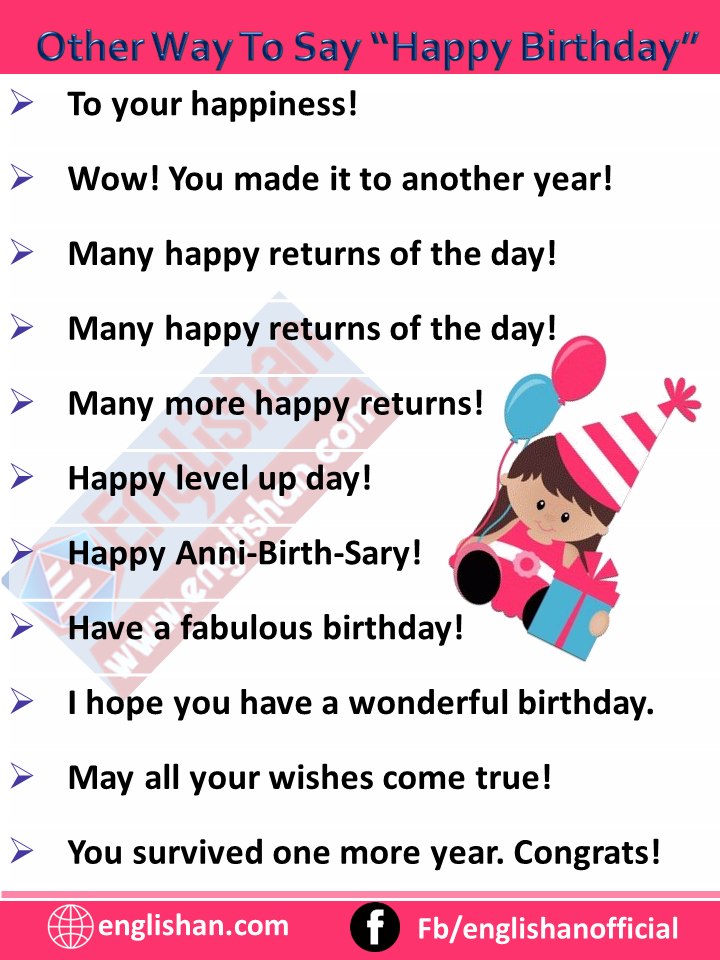 """Other Way To Say """"Happy Birthday"""""""