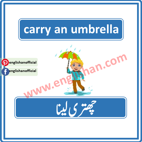Rain Vocabulary with Picture and Flashcards