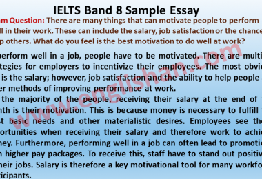 IELTS Band 8 Sample Essay