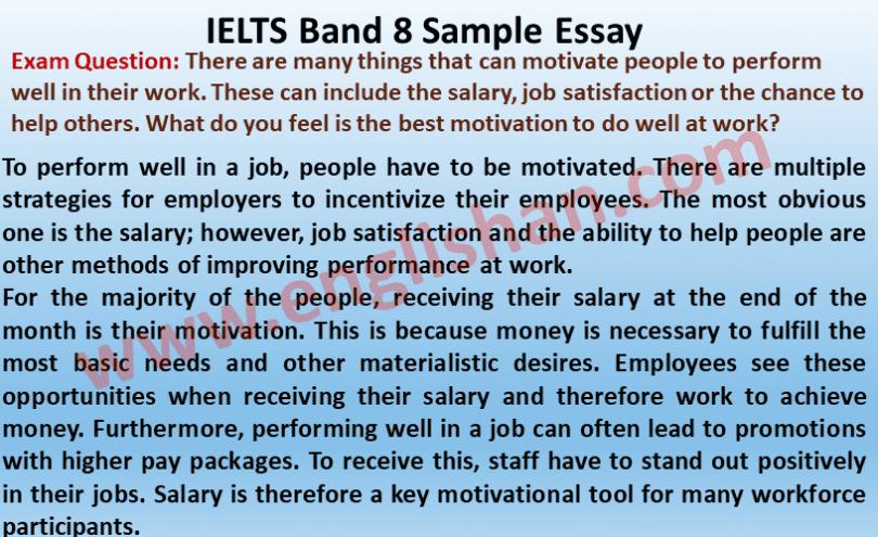 IELTS Band 8 Sample Essay