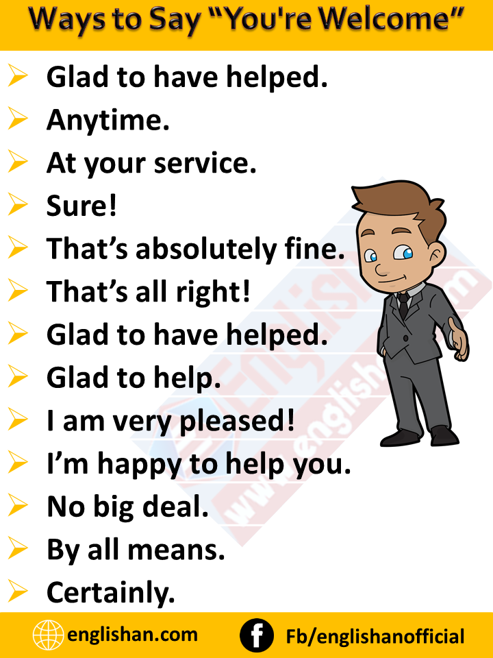 "Ways to Say ""You're Welcome"""