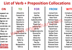 List of Verb + Preposition Collocations