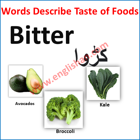 Adjectives to Describe Food