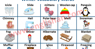 Winter Vocabulary Words with Picture