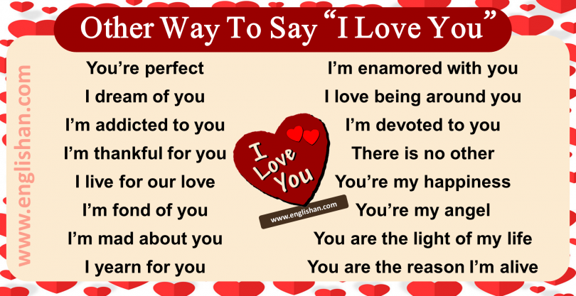 100+ Way to say I Love You