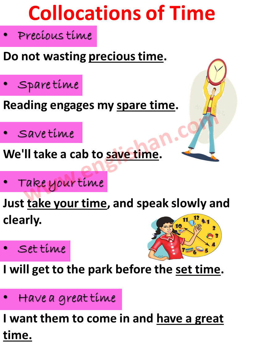 31 Most Common Collocations About Time