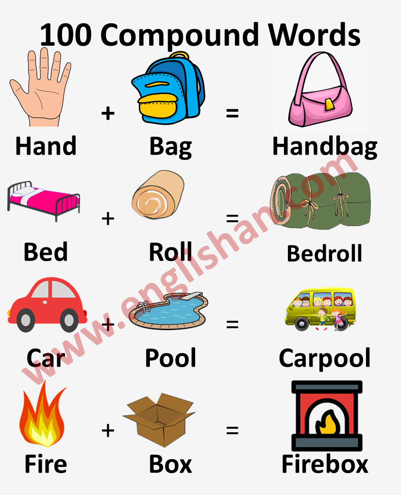 Compound Words List with Pictures for Kids
