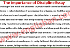 Importance of Discipline Essay 100 Words