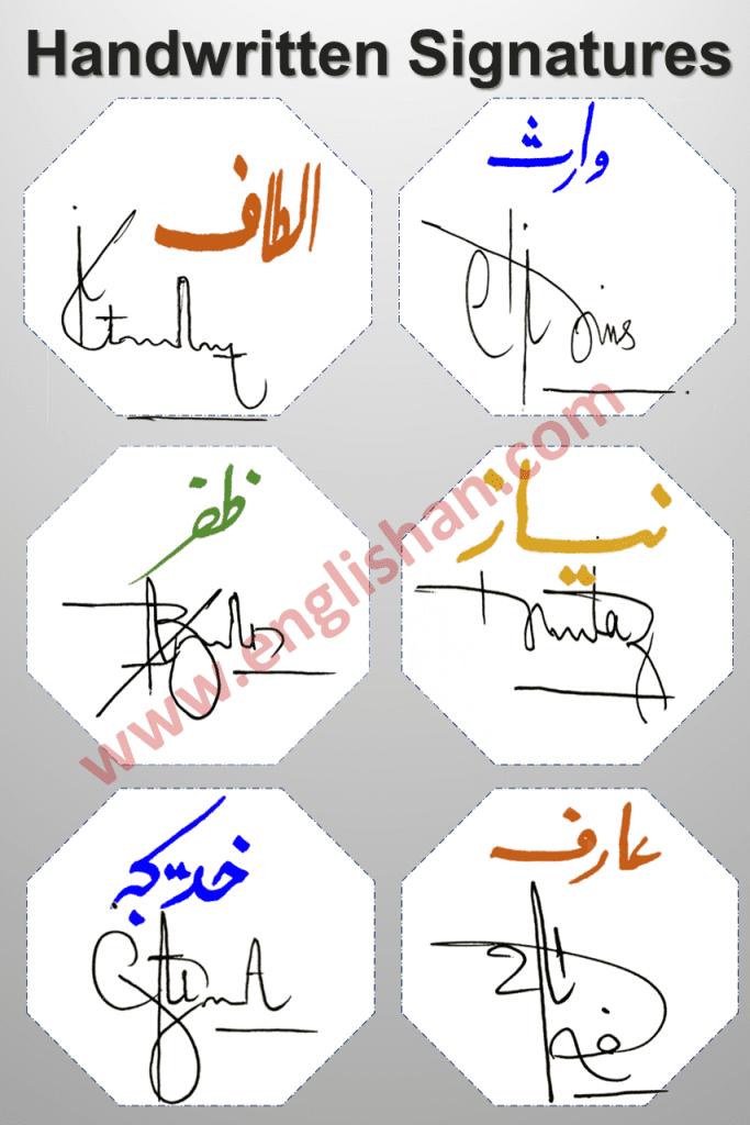 Beautiful Signatures for Name